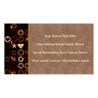 Stars and Hearts Business Card Templates