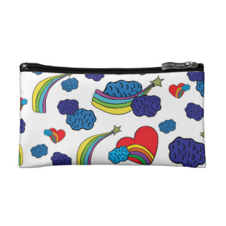 Stars and hearts cosmetic bag
