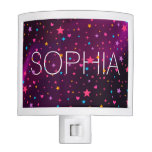 Stars and Hearts Girly Name Personalized Light Night Lites