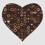 Stars and Hearts Heart Sticker