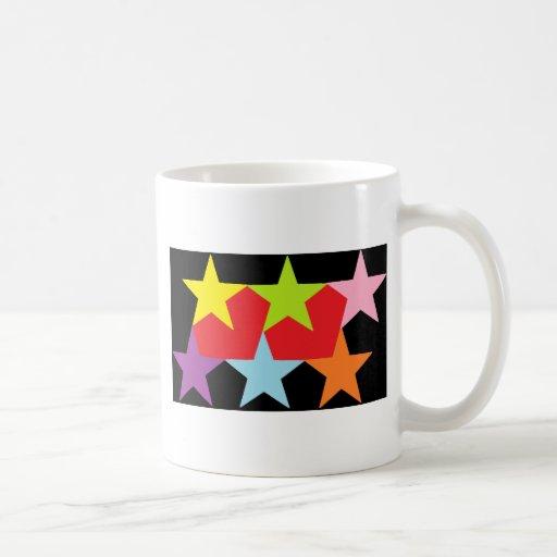 Stars and Hearts Multi-color Coffee Mug