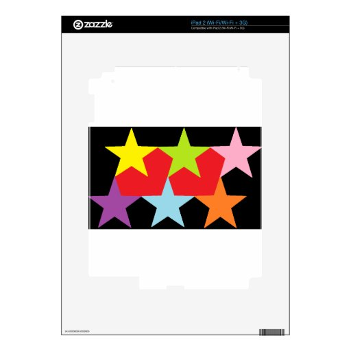 Stars and Hearts Multi-color Skins For iPad 2