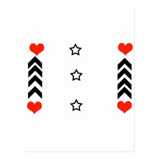 stars and hearts postcard