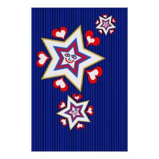 Stars and hearts poster