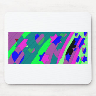 stars and hearts rainbow mouse pad