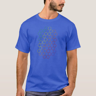 stars and hexagons back and front T-Shirt