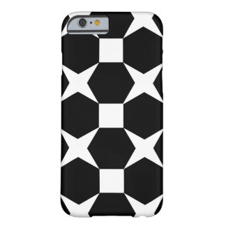 STARS AND HEXAGONS (BLACK AND WHITE) iPhone 6 Case