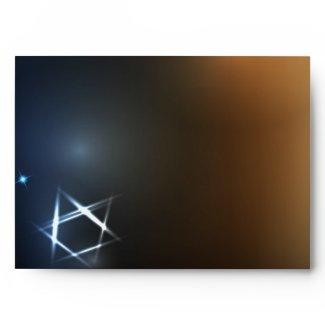 STARS and LIGHTS Bar Bat Mitzvah Custom Envelope