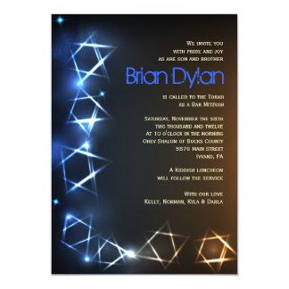 STARS and LIGHTS Bar Bat Mitzvah Invitation
