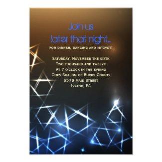 STARS and LIGHTS Bar Bat Mitzvah Party Card