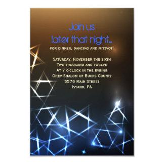 STARS and LIGHTS Bar Bat Mitzvah Party Card Invites