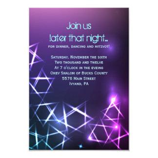 STARS and LIGHTS Bar Bat Mitzvah Party Card Custom Invitations