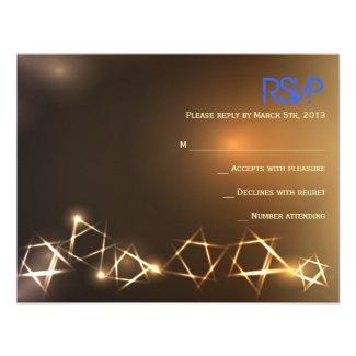 STARS and LIGHTS Bar Bat Mitzvah Reply Card