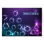 STARS and LIGHTS Bar Bat Mitzvah Thank You Card