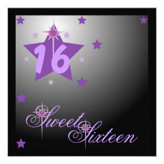 Stars And Lights Forever Sweet Sixteen-Customize Custom Invite