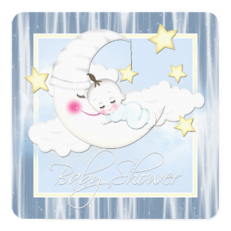 Stars and Moon Baby Shower Card