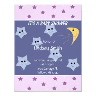 Stars and Moon Baby Shower Invitation
