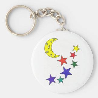 Stars And Moon Keychain