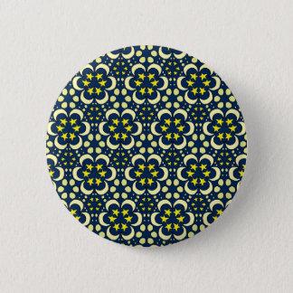 Stars and moon tessellation pinback button