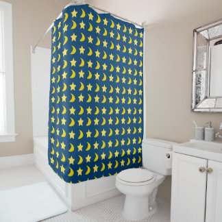 Navy Blue And Yellow Shower Curtains Zazzle
