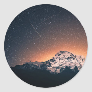 Stars and Mountains Classic Round Sticker