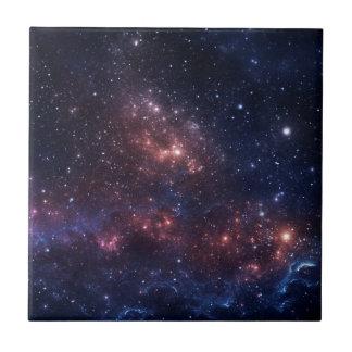 Stars and nebula ceramic tile