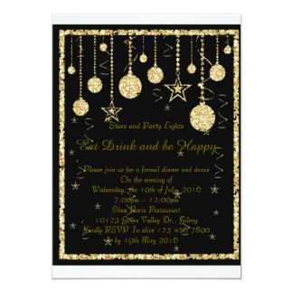 Stars and Party Lights Card