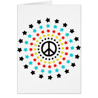 Stars and Peace Card