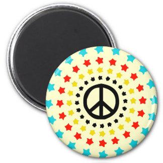 Stars and Peace Fridge Magnets