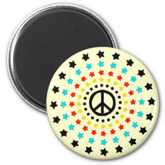 Stars and Peace Refrigerator Magnet