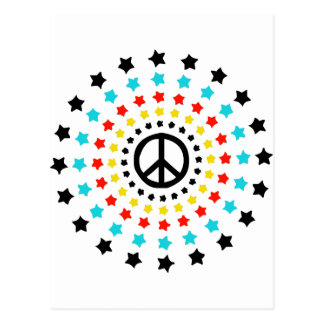 Stars and Peace Postcard