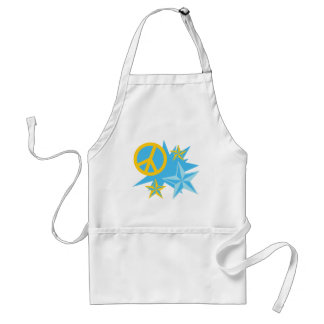 Stars and Peace Sign Adult Apron