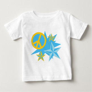 Stars and Peace Sign Baby T-Shirt
