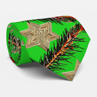 Stars and pines Christmas time Neck Tie