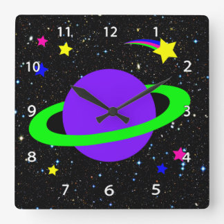 Stars and Planet Wall Clock