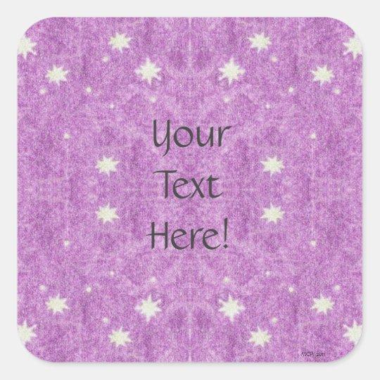 Stars and Purple Twilight Sky Square Sticker