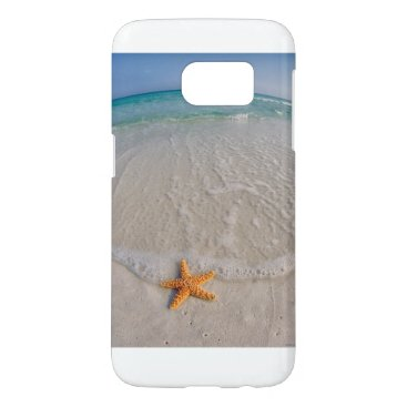 Beach Themed Stars and Sand Samsung Galaxy S7 Case