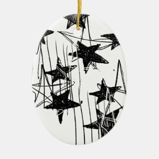 Stars and Scribbles Ceramic Ornament