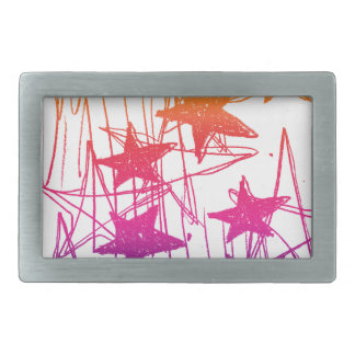 Stars and Scribbles Rainbow Belt Buckle