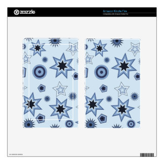 Stars and Shapes in Blue Kindle Fire Skins