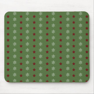 Stars and Snowflakes Mouse Pad