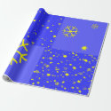 Stars and Snowflakes Patchwork Wrapping Paper