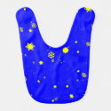 Stars and Snowflakes Reversible Baby Bib