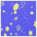 Stars and Snowflakes with Pentagrams Fabric