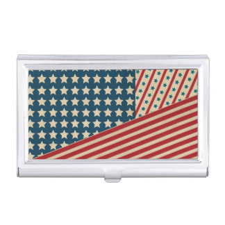 Stars and Striped Triangle Business Card Cases