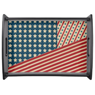 Stars and Striped Triangle Food Trays