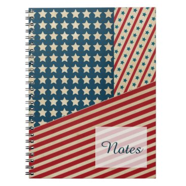 Stars and Striped Triangle Notebook