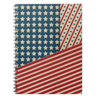 Stars and Striped Triangle Notebooks