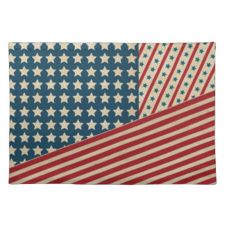 Stars and Striped Triangle Place Mats