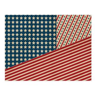 Stars and Striped Triangle Postcard